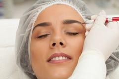Maquillage durable de sourcil photographie stock libre de droits