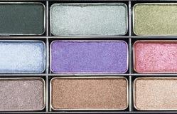 Maquillage en gros plan de fard à paupières Image stock