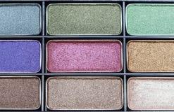 Maquillage en gros plan de fard à paupières Image libre de droits