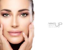 Maquillage et clou Art Concept de beauté photos libres de droits