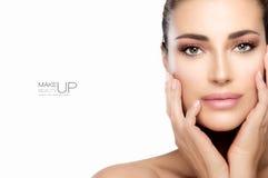 Maquillage et clou Art Concept de beauté photographie stock libre de droits