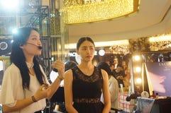 Maquillage femelle d'été d'exposition de modèles Photo libre de droits