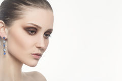 Maquillage femelle de luxe Image stock