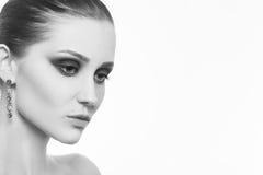 Maquillage femelle de luxe Photographie stock libre de droits