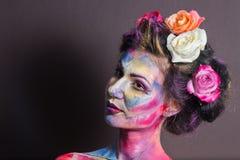 Maquillage floral Image libre de droits