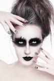 Maquillage gothique photos stock