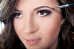 Maquillage Maquillage de sourcil Photo stock