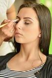 Maquillage Maquillage Fards à paupières Brosse de fard à paupières Images libres de droits