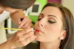 Maquillage Maquillage Fards à paupières Brosse de fard à paupières Photographie stock