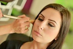 Maquillage Maquillage Fards à paupières Brosse de fard à paupières Image libre de droits