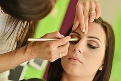 Maquillage Maquillage Fards à paupières Brosse de fard à paupières Photos stock