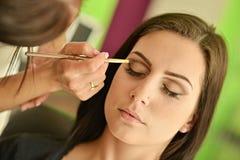 Maquillage Maquillage Fards à paupières Brosse de fard à paupières Photos libres de droits