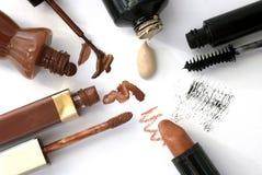 Maquillage Positionnement de renivellement images stock