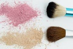 Maquillage réglé sur le fond blanc Photo libre de droits