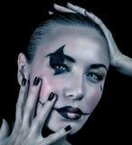 Maquillage rampant pour la partie de Halloween photographie stock