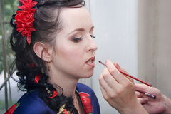 Maquillage for young bride Stock Photography