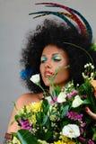 Maquillaje africano del estilo Fotografía de archivo libre de regalías
