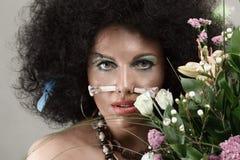 Maquillaje africano del estilo Imagen de archivo