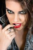 Maquillaje ahumado Foto de archivo