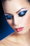 Maquillaje ahumado de la mujer Fotografía de archivo