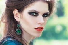 Maquillaje ahumado de los ojos Fotografía de archivo libre de regalías