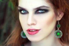 Maquillaje ahumado de los ojos Fotografía de archivo