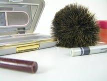 Maquillaje aislado en blanco Imagen de archivo
