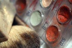 Maquillaje Art Cosmetics Paint Brush Tools Foto de archivo