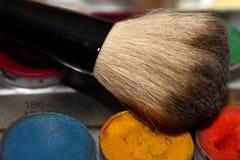 Maquillaje Art Cosmetics Paint Brush Tools Fotos de archivo libres de regalías