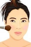 Maquillaje asiático de la muchacha Fotografía de archivo libre de regalías