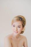 Maquillaje asiático hermoso de la mujer Imagen de archivo libre de regalías