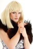 Maquillaje atractivo del ella-varón del hombre gay Imagen de archivo