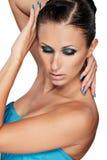 Maquillaje azul Imágenes de archivo libres de regalías