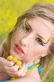 Maquillaje brillante del verano Fotos de archivo libres de regalías