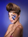 Maquillaje brillante en modelo hermoso Fotografía de archivo libre de regalías