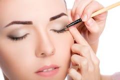 maquillaje Cepillo de la sombra de ojos foto de archivo