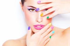 Maquillaje colorido Fotografía de archivo