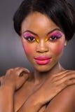 Maquillaje colorido africano fotografía de archivo
