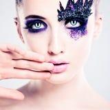 Maquillaje colorido azul Foto de archivo libre de regalías