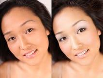 Maquillaje de Digitaces Imagen de archivo libre de regalías
