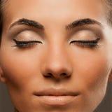 Maquillaje de la belleza y de la manera Foto de archivo libre de regalías