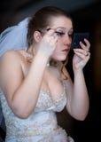 Maquillaje de la boda Imagen de archivo libre de regalías