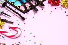 Maquillaje de la celebración de días festivos Foto de archivo libre de regalías