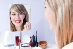 Maquillaje de la chica joven Fotos de archivo libres de regalías