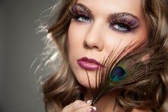 Maquillaje de la elegancia Foto de archivo libre de regalías