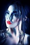 Maquillaje de la fantasía Fotografía de archivo libre de regalías