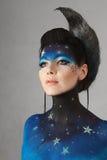 Maquillaje de la luna Fotos de archivo libres de regalías