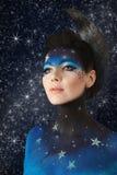 Maquillaje de la luna Fotografía de archivo libre de regalías