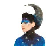 Maquillaje de la luna Foto de archivo libre de regalías