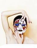 Maquillaje de la máscara. Fotos de archivo